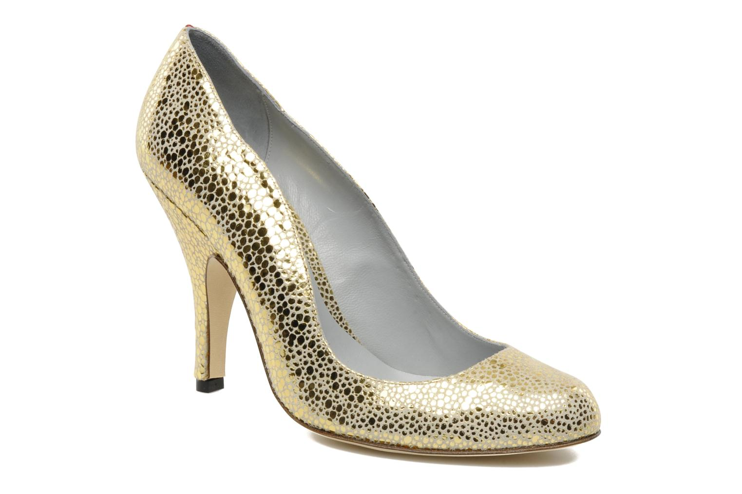 High heels Fred Marzo Titine Bronze and Gold detailed view/ Pair view