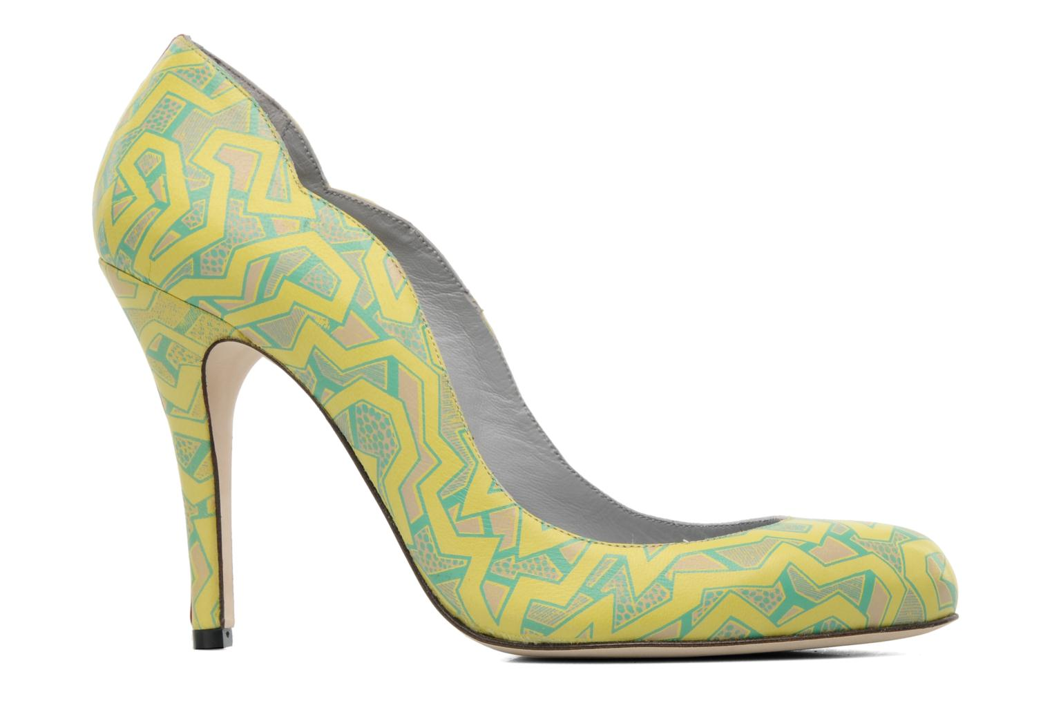 Pumps Fred Marzo Titine Geel achterkant