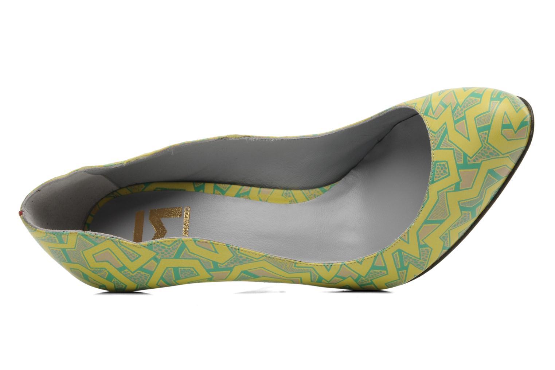 Titine Agneau Imprime Wax Jaune et Turquoise