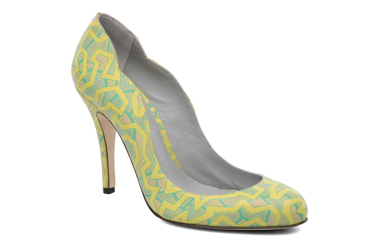 Pumps Fred Marzo Titine Geel detail