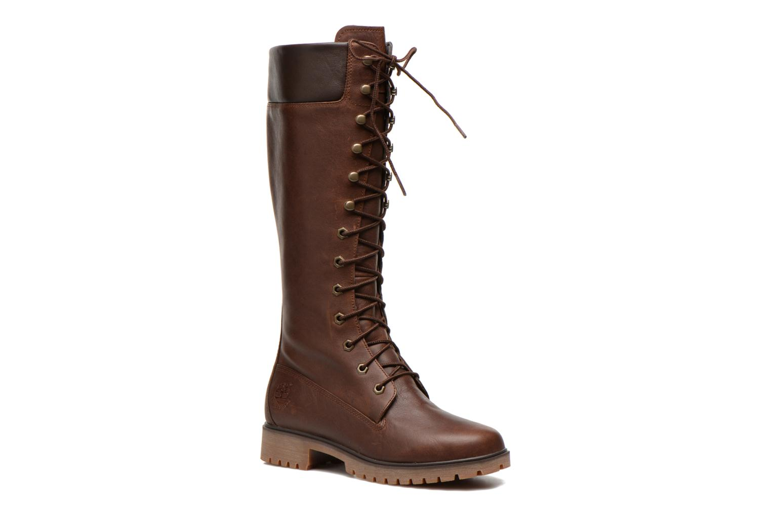 Women's Premium 14 inch Dark Brown Forty Leather