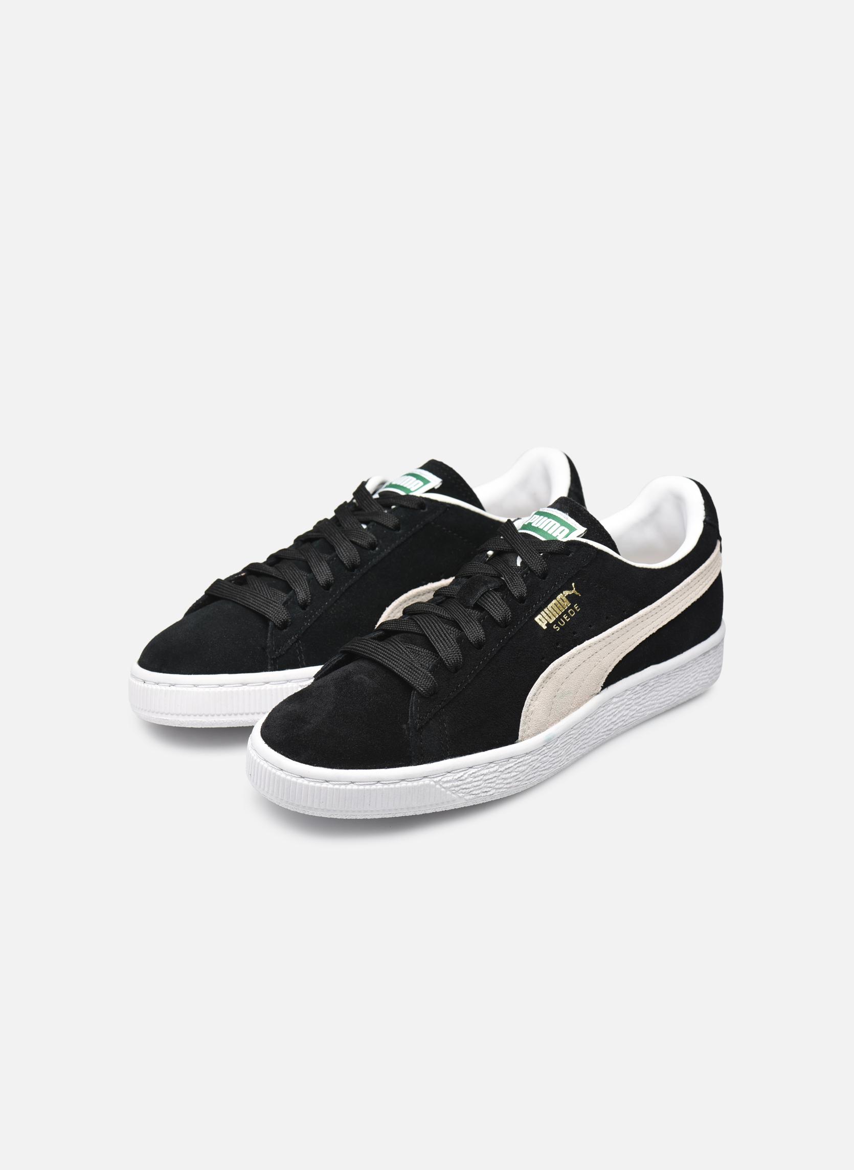 Sneaker Puma Suede classic eco W schwarz ansicht von unten / tasche getragen