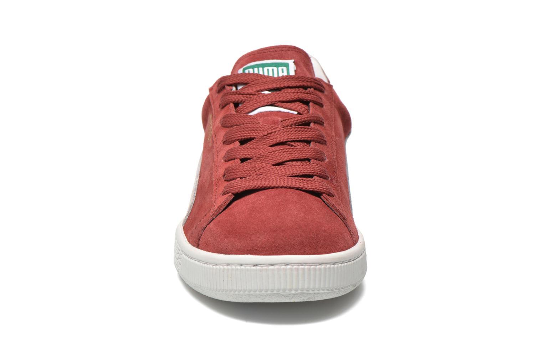 Sneaker Puma Suede classic eco W weinrot schuhe getragen
