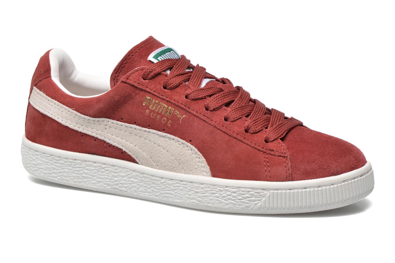 Sneakers Puma Suede classic eco W Vinröd detaljerad bild på paret