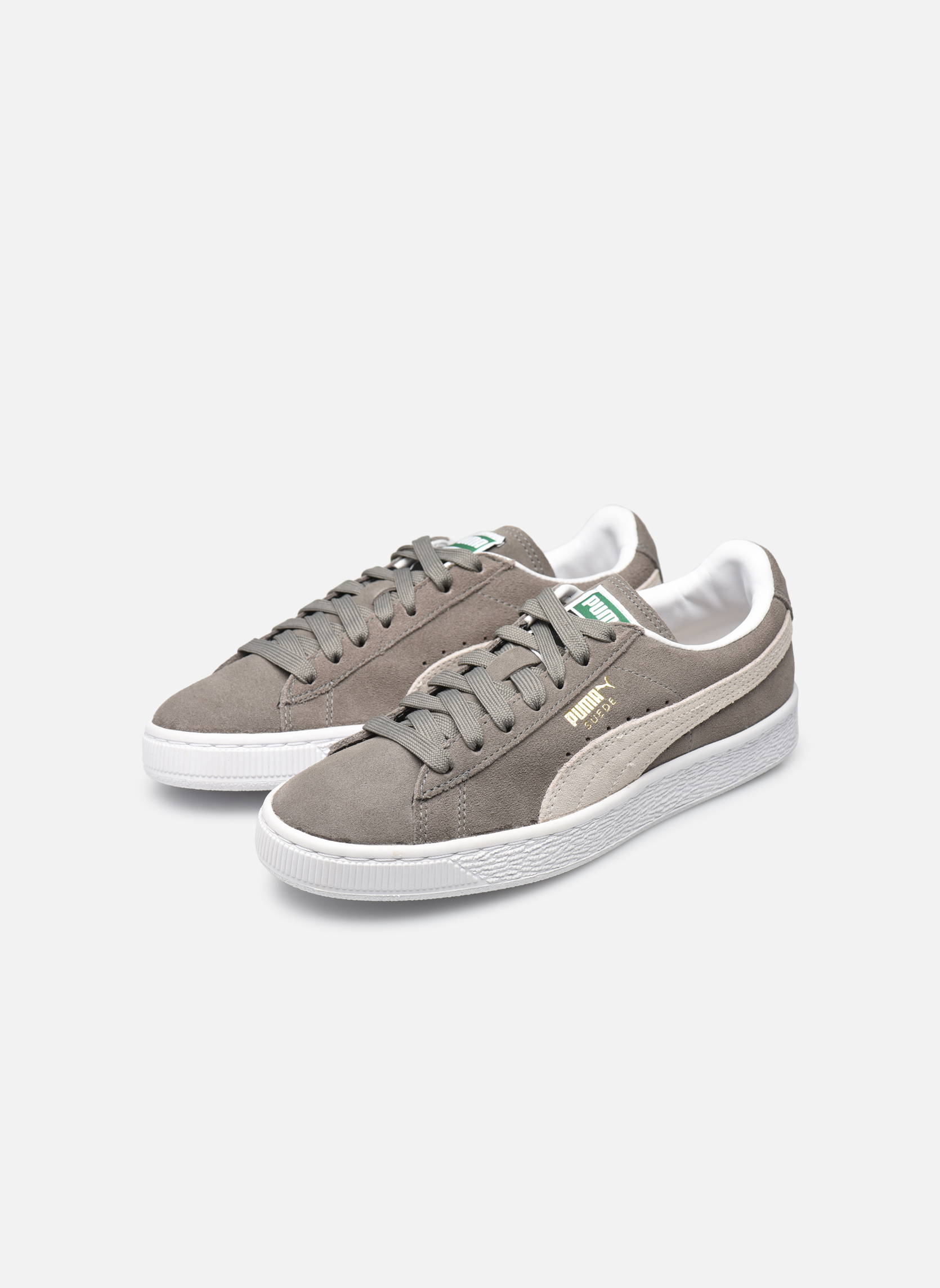 Trainers Puma Suede classic eco W Grey view from underneath / model view