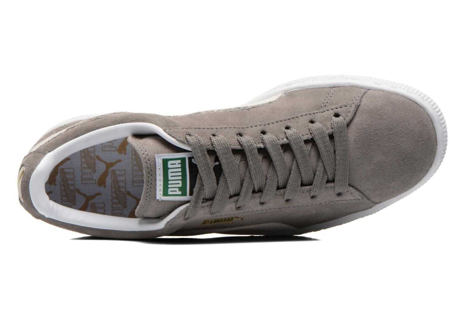 Suede classic eco W Steep Gray-White