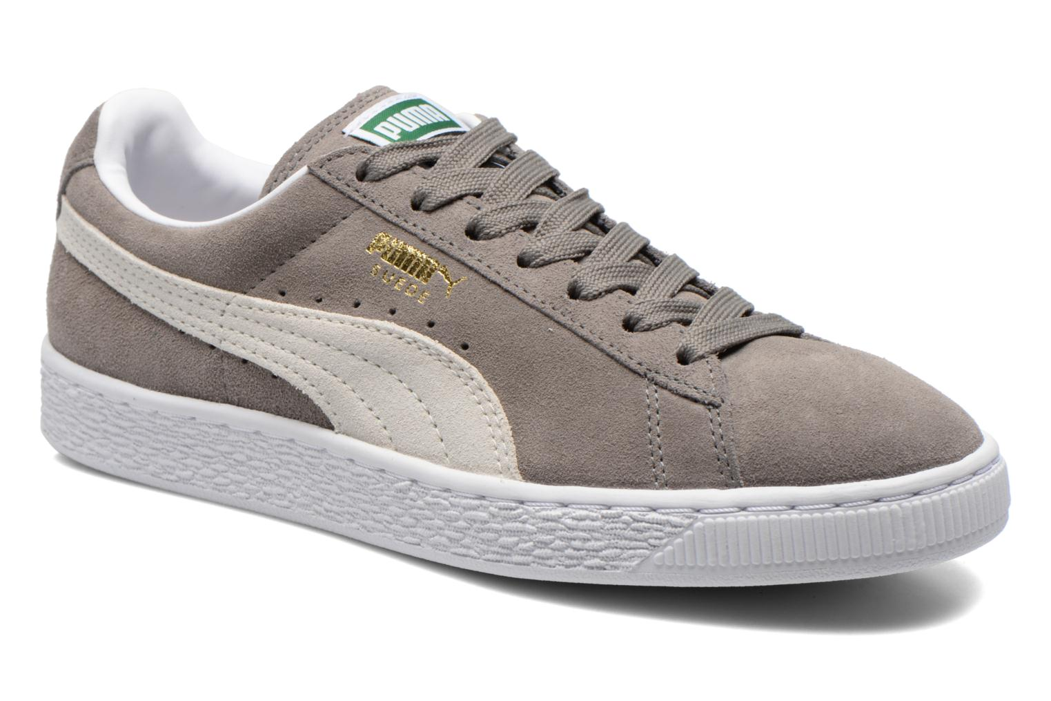 Suede classic eco W steeple gray-white