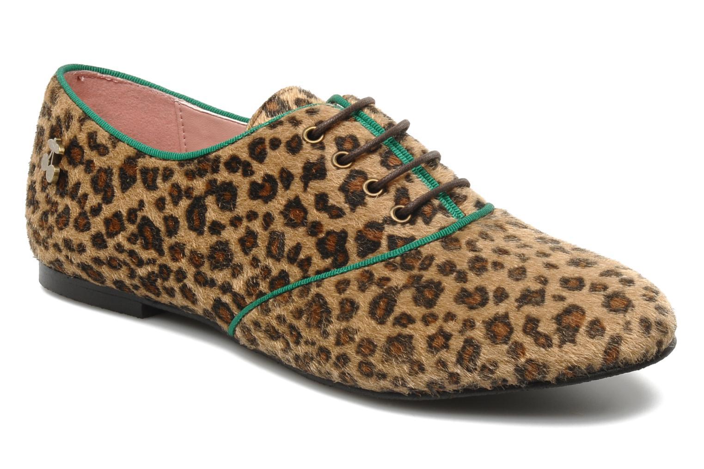 Chaussures à lacets Le temps des cerises Edin Multicolore vue détail/paire