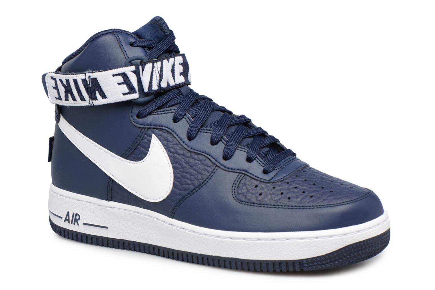 Baskets Nike Air Force 1 High'07 Bleu vue détail/paire