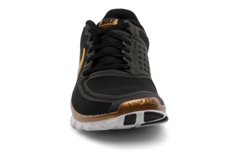 Wmns Nike Free 5.0 V4 Black/Metallic Gold-White-Black