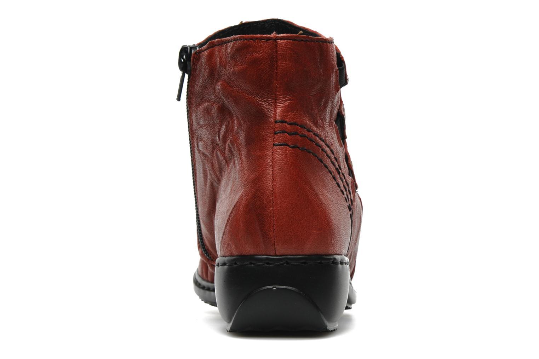 Bottines et boots Rieker Rinho Z3883 Bordeaux vue droite