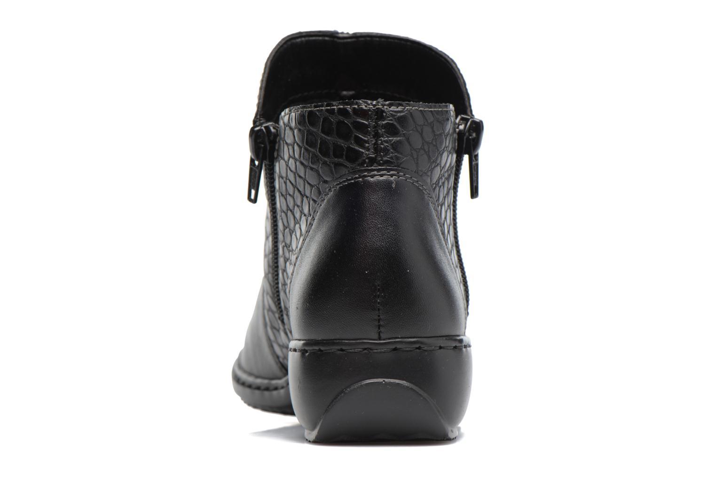 Bottines et boots Rieker Doro L3869 Noir vue droite
