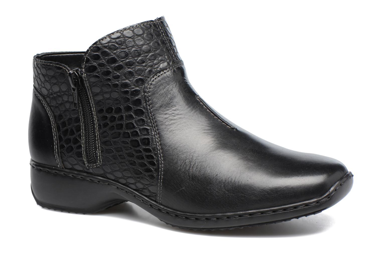 Marques Chaussure femme Rieker femme Doro L3869 Schwarz