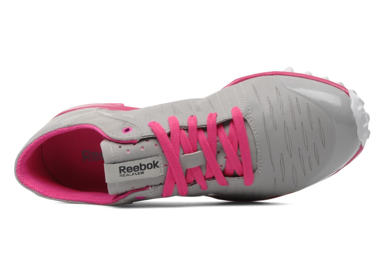 Sportschuhe Reebok Realflex Fusion Tr grau ansicht von links