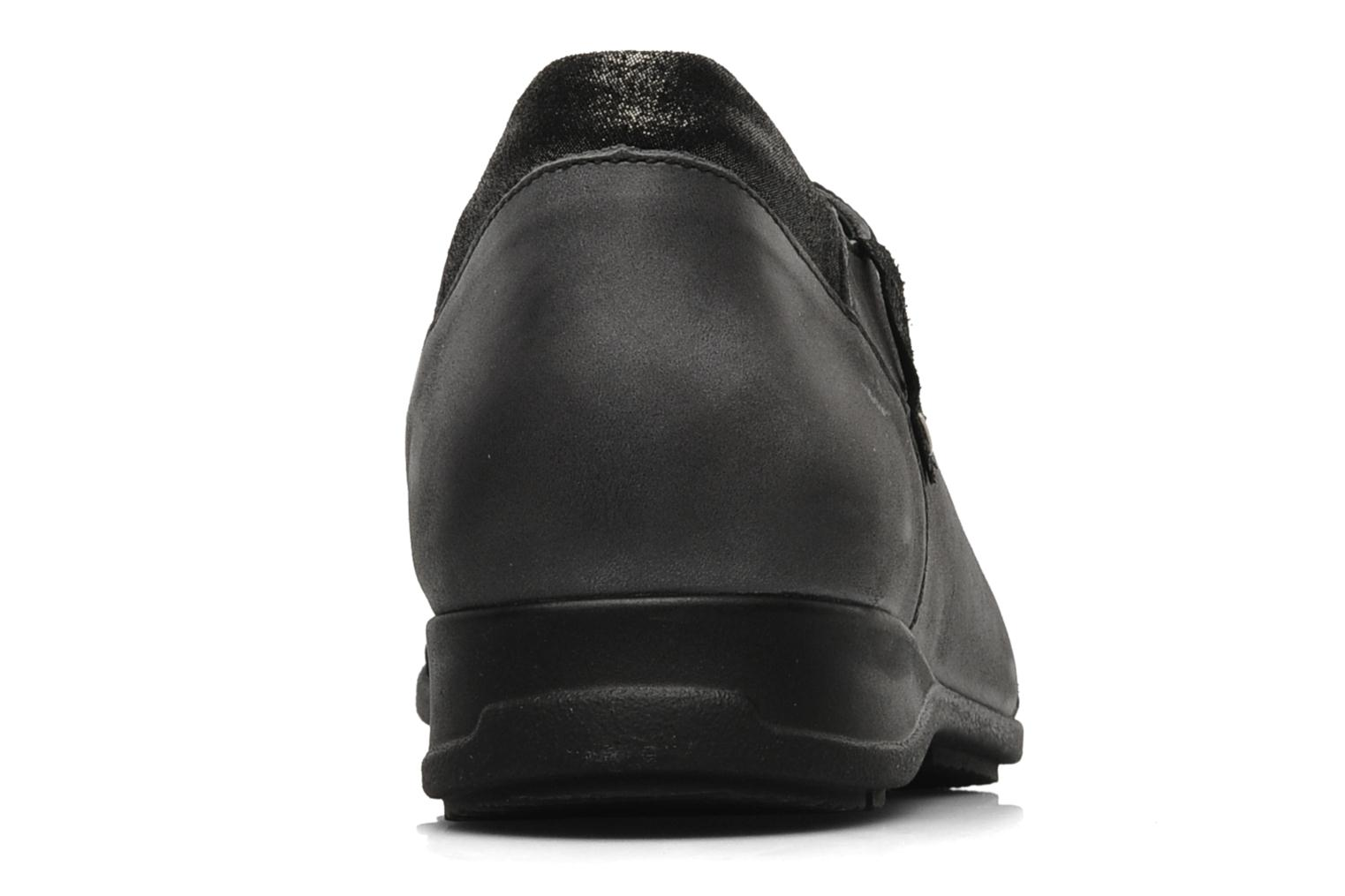 Lace-up shoes Mephisto Gazina Grey view from the right