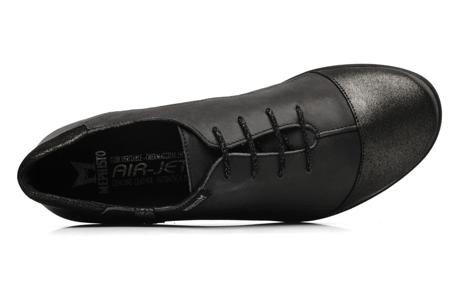 Lace-up shoes Mephisto Gazina Grey view from the left