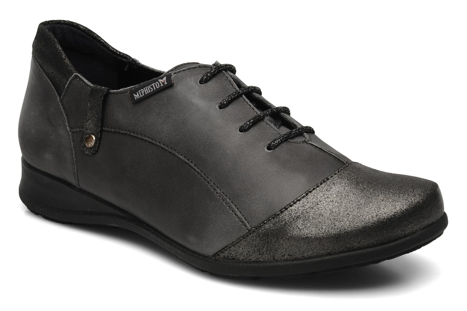 Lace-up shoes Mephisto Gazina Grey detailed view/ Pair view