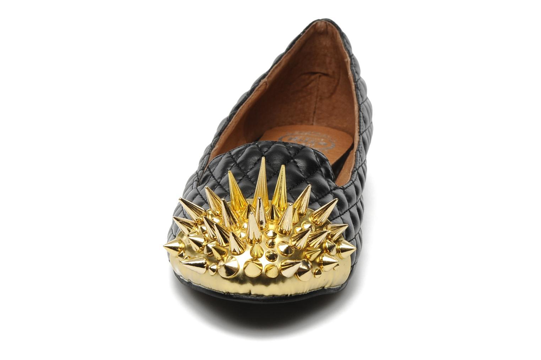 Mocassins Jeffrey Campbell Crown 2 Noir vue portées chaussures