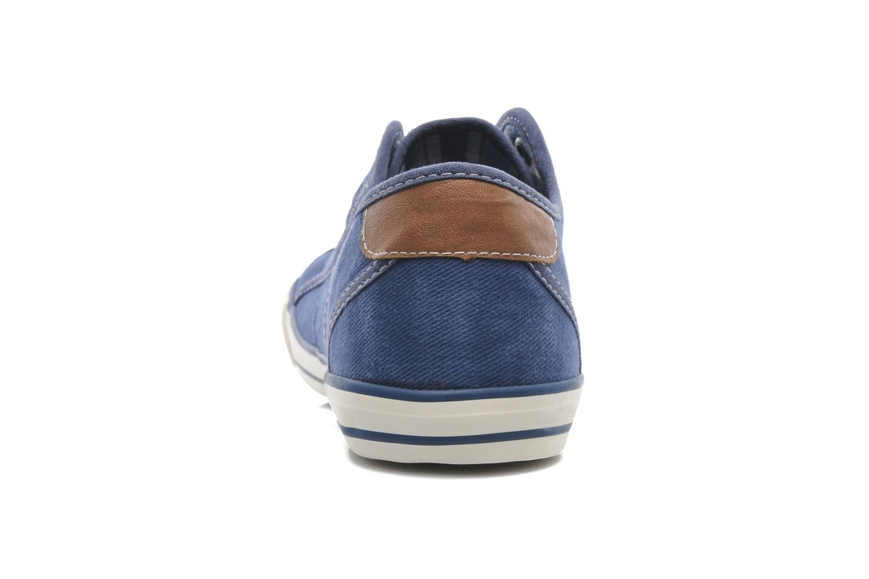 Baskets Mustang shoes Marco Bleu vue droite