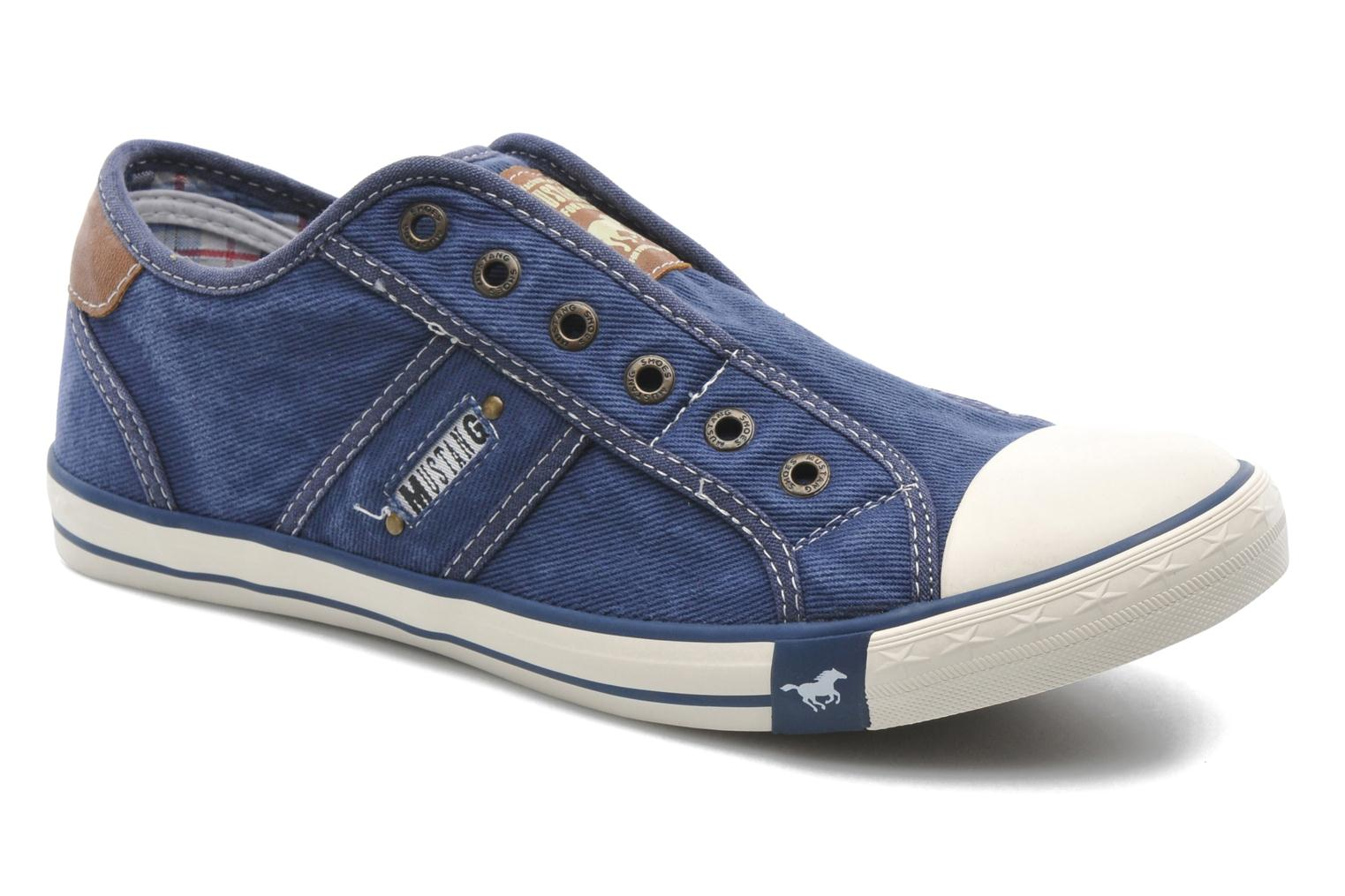Sneakers Mustang shoes Marco Blauw detail