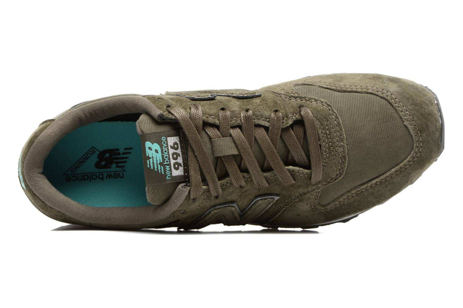 Trainers New Balance WR996 Green view from the left