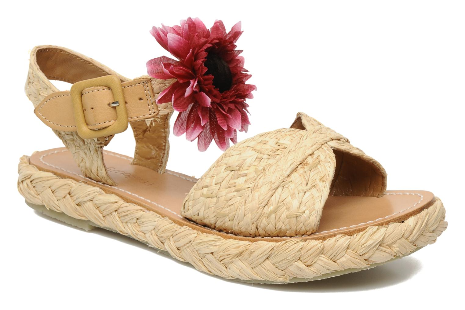 Sandals Mellow Yellow Noe Beige detailed view/ Pair view