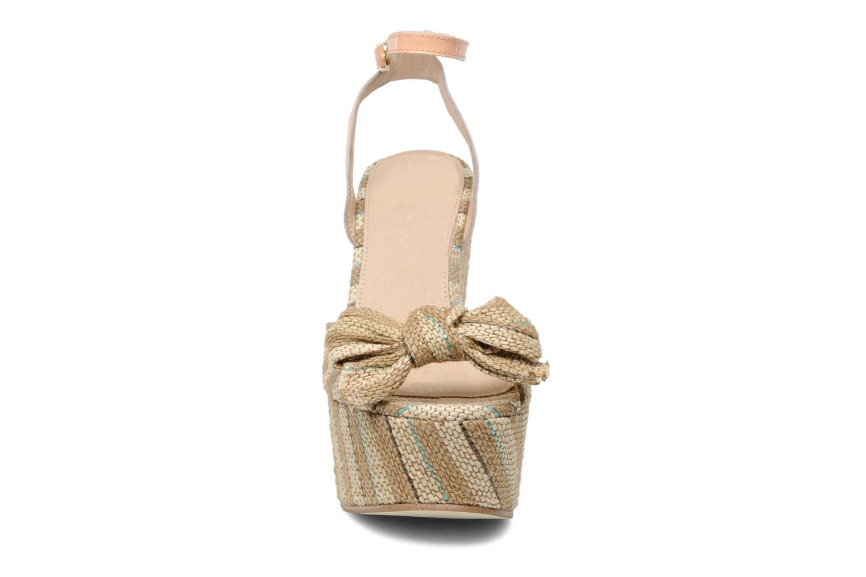 Sandalen Mellow Yellow Nereis beige schuhe getragen
