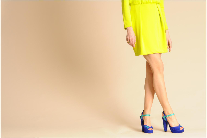 Sandales et nu-pieds Terry de Havilland MAREVNA Bleu vue bas / vue portée sac