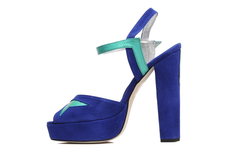 Sandales et nu-pieds Terry de Havilland MAREVNA Bleu vue face