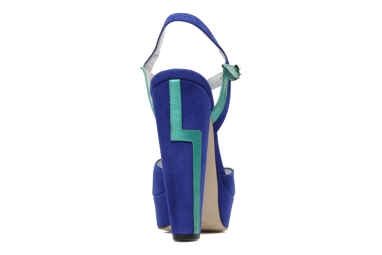 Sandales et nu-pieds Terry de Havilland MAREVNA Bleu vue droite