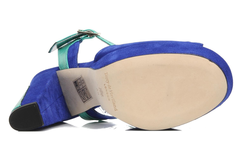 Sandales et nu-pieds Terry de Havilland MAREVNA Bleu vue haut