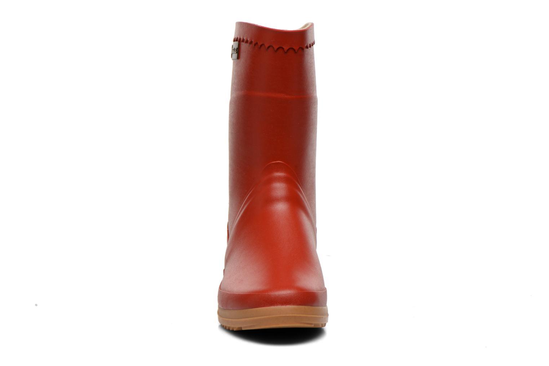 Bottines et boots Aigle Bison Lady Rouge vue portées chaussures
