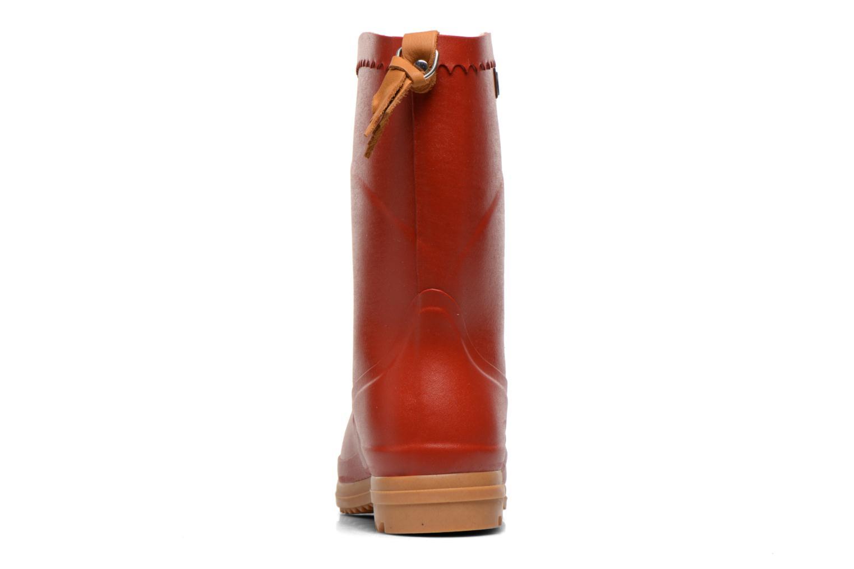 Bottines et boots Aigle Bison Lady Rouge vue droite