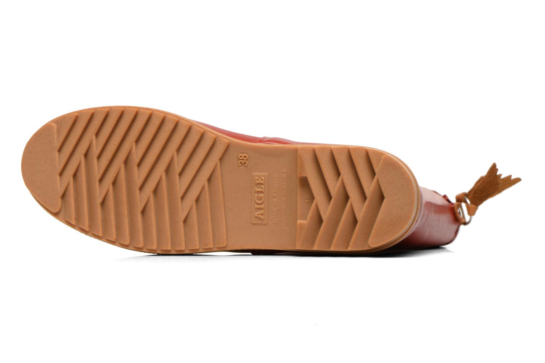 Stiefeletten & Boots Aigle Bison Lady rot ansicht von oben