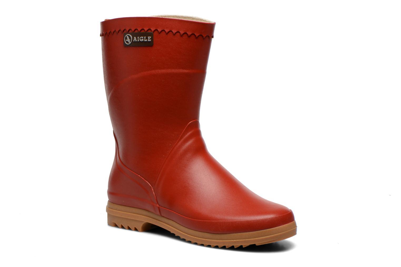 Bottines et boots Aigle Bison Lady Rouge vue détail/paire