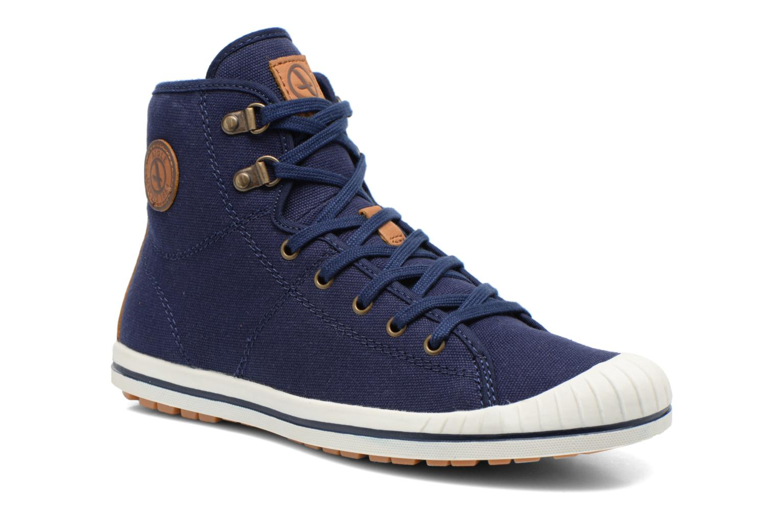 Lace-up shoes Aigle Kitangiri Mid W Blue detailed view/ Pair view