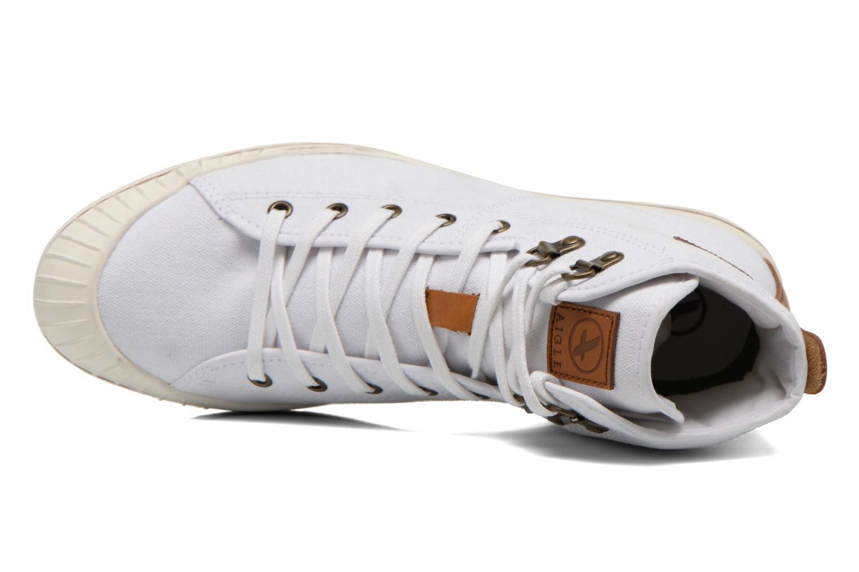 Chaussures à lacets Aigle Kitangiri Mid W Blanc vue gauche