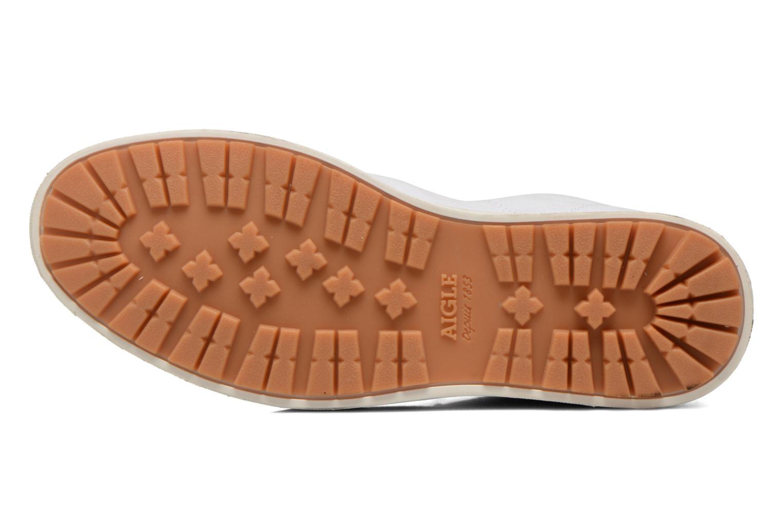 Chaussures à lacets Aigle Kitangiri Mid W Blanc vue haut
