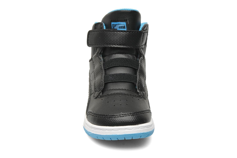 Sneaker Puma Full Court Hi V Kids schwarz schuhe getragen