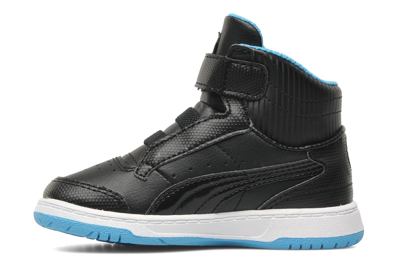 Sneaker Puma Full Court Hi V Kids schwarz ansicht von vorne