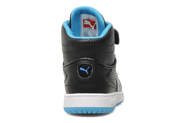 Sneaker Puma Full Court Hi V Kids schwarz ansicht von rechts