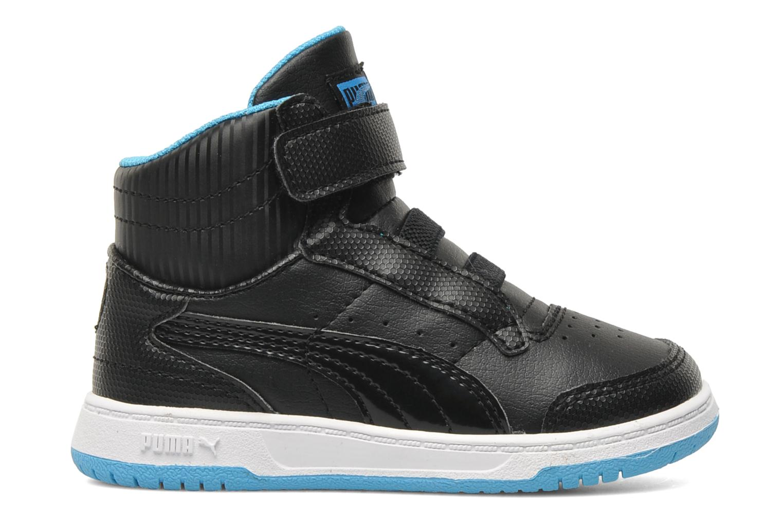 Sneaker Puma Full Court Hi V Kids schwarz ansicht von hinten
