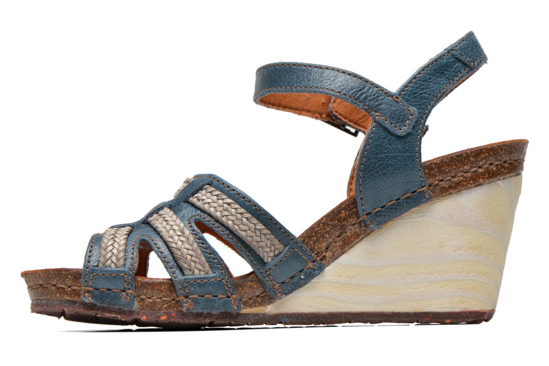 Sandales et nu-pieds Art Valby 405 Bleu vue face
