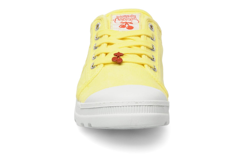 Baskets Le temps des cerises Luna Jaune vue portées chaussures