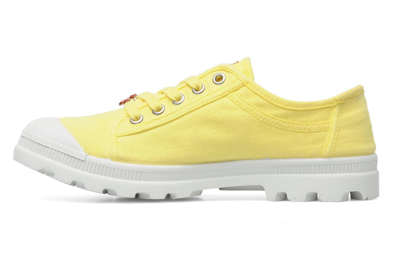 Sneaker Le temps des cerises Luna gelb ansicht von vorne