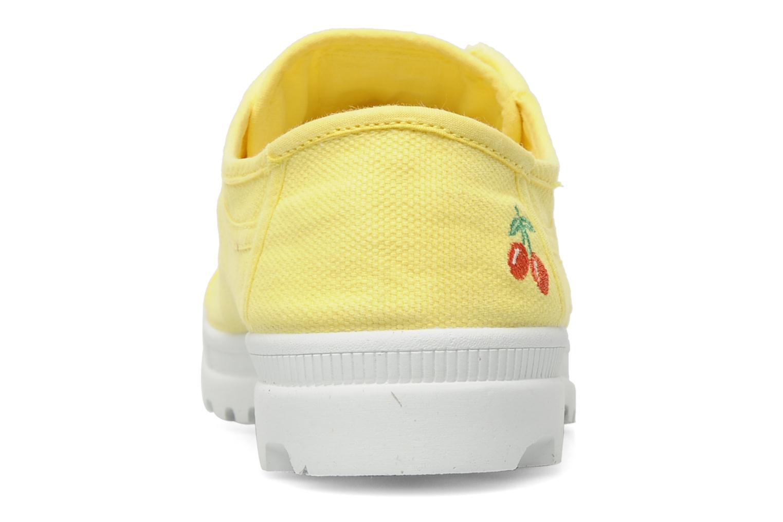 Sneaker Le temps des cerises Luna gelb ansicht von rechts