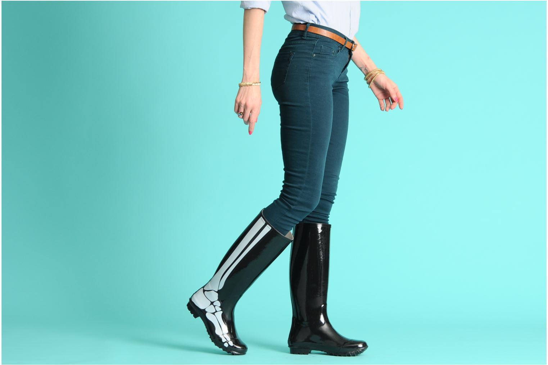Laarzen Be&D skeleton rain boot Zwart onder