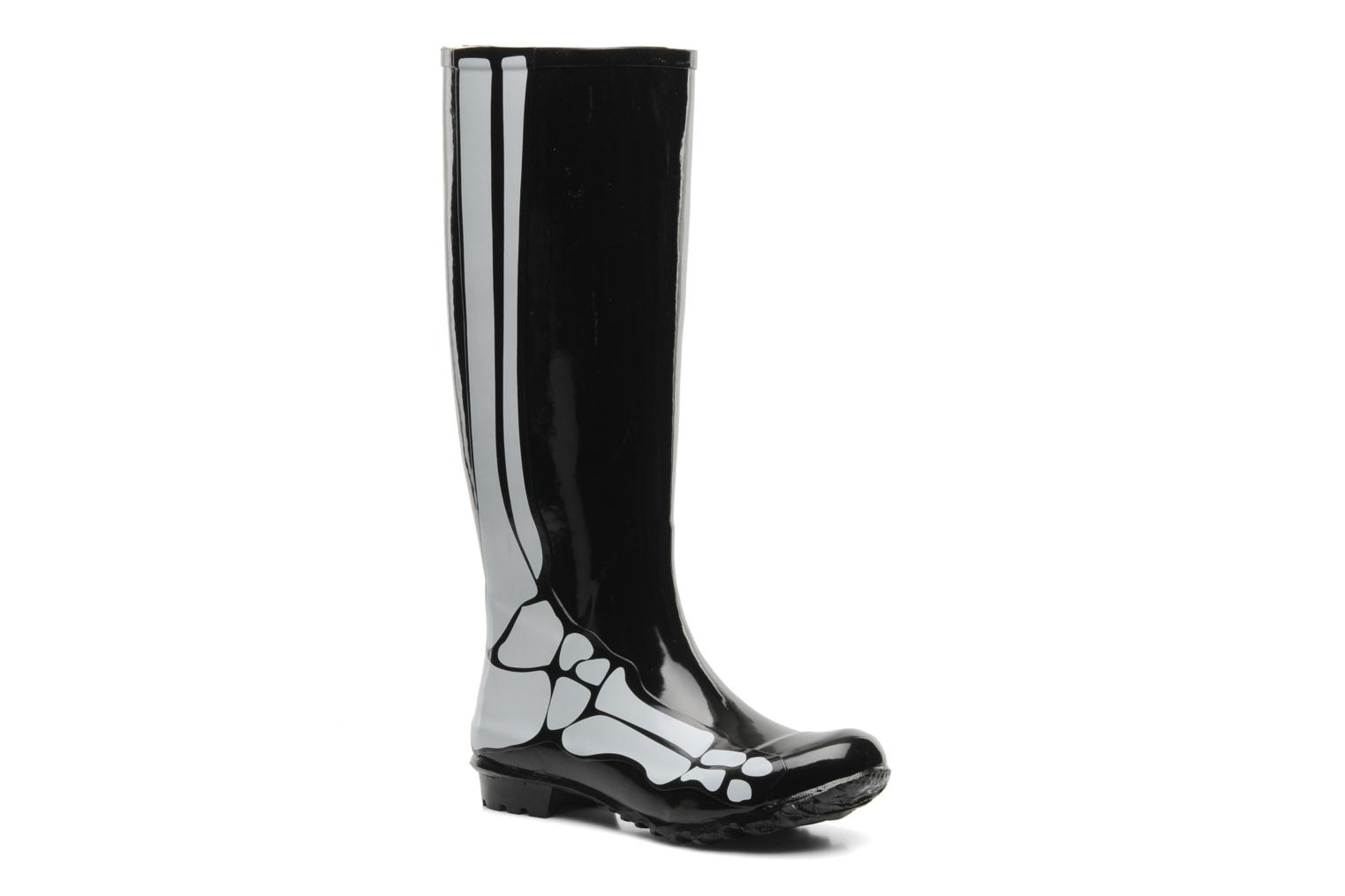 skeleton rain boot Black 001