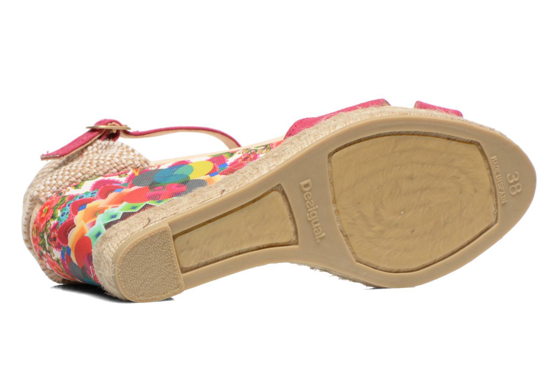 Sandales et nu-pieds Desigual Eva Rose vue haut