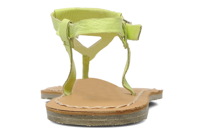 Sandales et nu-pieds Roxy Nymph Jaune vue droite